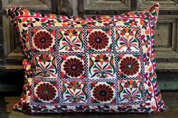 Vintage Embroidered Cushion, Gujarat